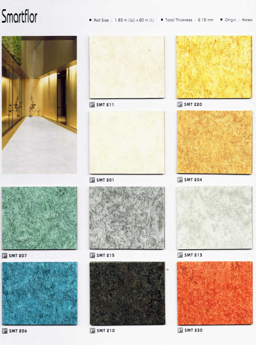 Smartflor Korea Sheet Vinyl Flooring Collection Macau