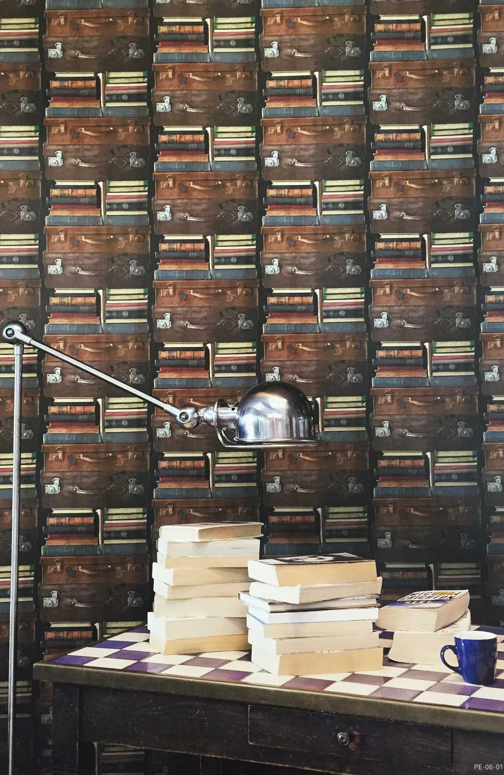 Deco4walls exposed book shelves wallpaper takyin - Commercial wallpaper pasting machine ...