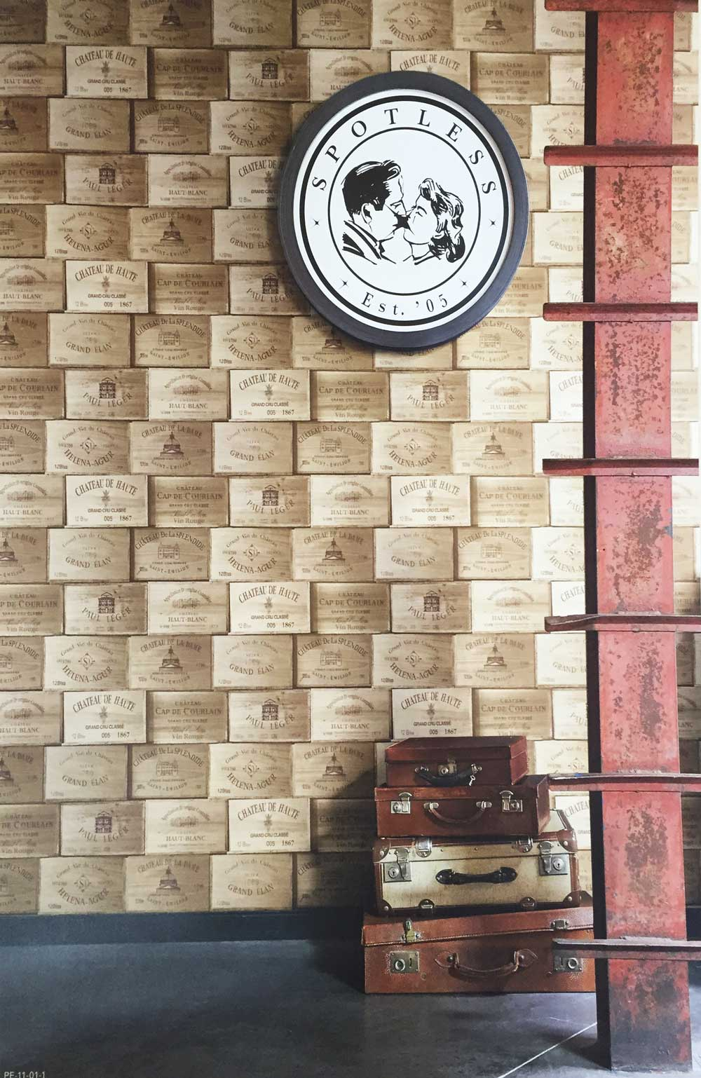 Deco4walls exposed wooden wine box wallpaper takyin - Commercial wallpaper pasting machine ...
